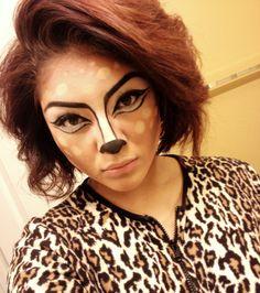 Bambi inspired Halloween makeup :)! easy& fun