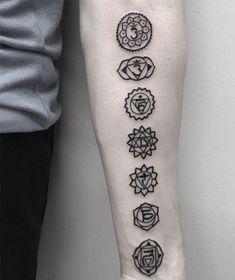 Chakra back tattoo