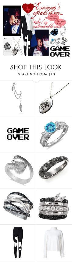 """You call me monster 네 맘으로 들어갈게 (9)Chanyeol"" by park-ji-eun ❤ liked on Polyvore featuring Bling Jewelry, Allurez, Kwiat, R.H. Macy's & Co., FerrariFirenze, WithChic, The Elder Statesman, Equipment and ultimatebias"