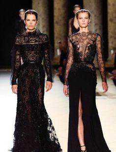 Robe de soiree en dentelle haute couture