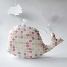 perhaps would make cute tissue box cover - maybe with tubular tissue box and padding to conceal shape Tissue Box Covers, Tissue Boxes, Great Whale, Baby Crafts, Teaching Art, Stuffed Toys Patterns, Baby Bibs, Softies, Fun Projects