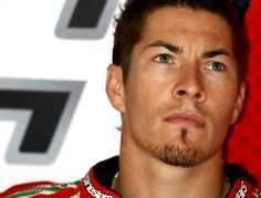 Nicky Hayden. American motorcycle racer from Kentucky. He sometimes looks really intense but apparently he's a super nice dude!