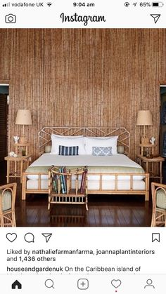 Discover bedroom design ideas on HOUSE - design, food and travel by House & Garden including a redesigned bamboo house on the Caribbean island of Mustique Bamboo House Design, Home Garden Design, Home Interior Design, Stylish Interior, Interior Ideas, Bedroom Green, Bedroom Decor, Bedroom Ideas, Summer Bedroom