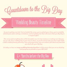 Bridal Beauty Timeline Infographic