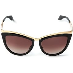 ALEXANDER MCQUEEN metal brow sunglasses (7.262.600 VND) ❤ liked on Polyvore featuring accessories, eyewear, sunglasses, alexander mcqueen, cat-eye glasses, cat eye sunglasses, metal cat eye glasses and cat eye glasses