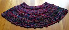 My poncho following my shrug idea. Handspun and hand knitted.
