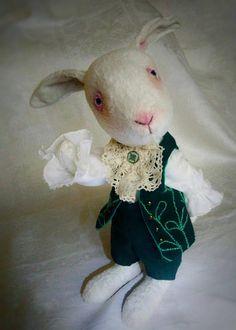Fantastic rabbit by motives of Alice in Wonderland.  OOAK