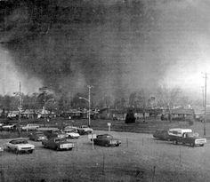 Massive tornado bears down on Xenia during the super tornado outbreak of April 3, 1974.