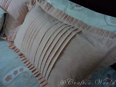 A pleated pillow case