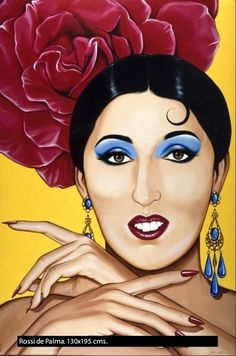 Rossy de Palma by Antonio de Felipe Pop Art, Drawing, Portraits, Arte Pop, Retro, Disney Characters, Fictional Characters, Snow White, Creations