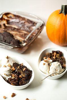 Gooey Pumpkin Spice Latte Chocolate Pudding Cake (vegan + gluten-free) — Oh She Glows