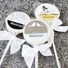 Elite Design Personalized Lollipop Favors For Weddings - Edible Party Favors