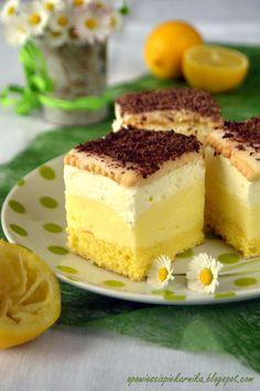 Polish Desserts, Polish Recipes, Vegan Desserts, Delicious Desserts, Polish Cake Recipe, Ukrainian Desserts, Baking Recipes, Cake Recipes, Kolaci I Torte