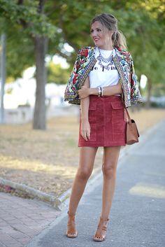 JE T'aimeJacket: Shein (New) Camiseta / T-Shirt: The Desiré Shop (New) Falda / Skirt: Zara (New) Collar / Necklace: Stradivarius (New) Bolso / Handbag: Primark (Old) Sandalias / Sandals: Mango (S/S...