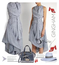 Gingham Dress by betiboop8 on Polyvore featuring Vivienne Westwood Anglomania, Fendi, ZAC Zac Posen, BaubleBar, House of Lafayette and ginghamdress