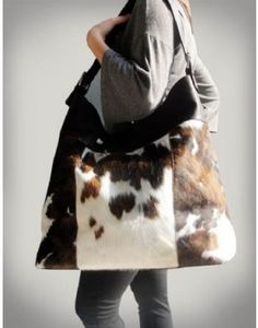 Henig Furs :: Fabulous leather (cowhide - hair on hide), oversized, tote bag/purse. henigfurs.com