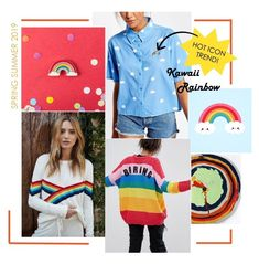 bcd17f67bd37 Spring Summer 2019 Print Trend: Kawaii Rainbow Fashion 2018 Trends, Casual Fashion  Trends,
