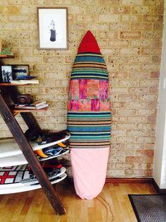 DIY surfboard bag I made for jake!