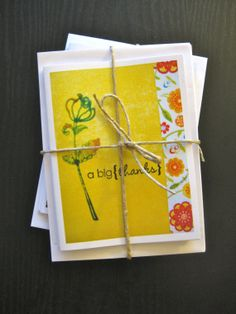 Thank You cards with glitter