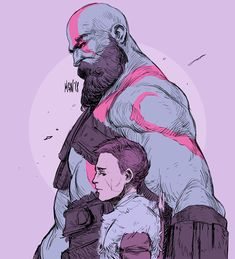 """maganaworks: """"I want to play the new God of War! Little color test for the sketch of the day :) """""""