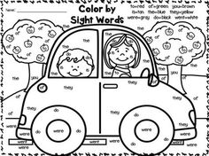 Color By Sight Words~ FREEBIES! Great for 1st-2nd Grades! A gift from me to you! :o)