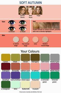 caratteristiche stagione cromatica autunno soft autumn occhi capelli