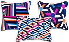 The Jonathan Adler Pillows from 'The Mindy Project' - ''We wanted [to create an office] that was professional yet welcoming. If a pregnant woman was coming in to see her doctor in that office, you know it would be a calm place,'' Gallenberg says. What better way to make a pregnant woman comfortable than with chic and cheery pillows?