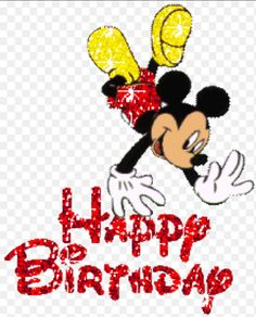 Happy Birthday Pictures, Mickey Birthday, Mickey Mouse, Disney Characters, Fictional Characters, Snoopy, My Love, Happy Birthday Images, Fantasy Characters