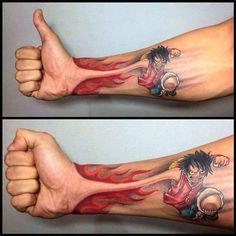 a community to talk about tattoos Forarm Tattoos, 3d Tattoos, Love Tattoos, Body Art Tattoos, Manga Tattoo, Anime Tattoos, One Piece Merchandise, Romantic Couples Tattoos, Tatuagem Diy