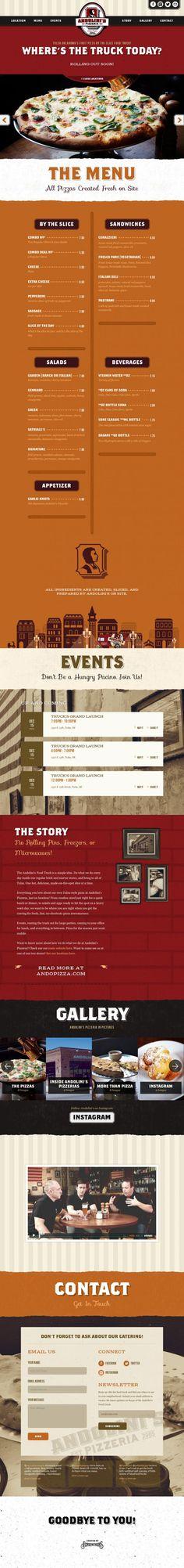 Andolinis Pizzeria Food Truck - Best website, web design inspiration showcase