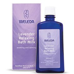 Buy Weleda Lavender Relaxing Bath Milk - luxury skincare, hair care, makeup and beauty produ Hair Care, Relaxing Bath, Milk Bath, Natural Cosmetics, Natural Essential Oils, Lavender Oil, Organic Skin Care, Body Wash, The Balm