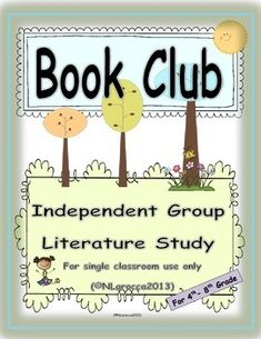 Book Club is an independent reading activity that motivates students to take charge of their independent learning. It can replace centers for guide. Student Self Assessment, Formative Assessment, Reading Activities, Guided Reading, Phrase Meaning, 5th Grade Teachers, Literature Circles, Independent Reading, Student Motivation