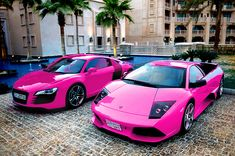 audi & lambo i dont care if its pink its beast