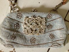 beaded dyed vintage bag repurposed