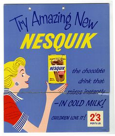 Nesquik ad, UK, 1957   by Nestlé
