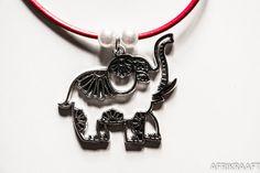 Elephant pendant with leather necklace ▲ Via Afrikraaft look www.pinterest.com/afrikraaft/ ▲ #Fashion △ #Gypsy △ #egyptian △ #Bracelets △ #Accessories △ #ancient △ #antic #gold △ #golden △ #turquoise #Stylist #Stylish✿⊱╮