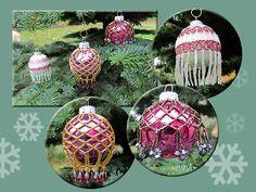 Teri's Beaded Christmas Ornaments-cute craft idea for the tree!