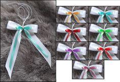 In der Mitte der Schleife ist ein kleines Perlenherz angebracht. Der Preis gilt für 1x Schleife. - Mit langem Satinband zum befestigen. | eBay!