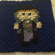 Professor Dumbledor Harry Potter crochet, free pattern http://twoheartscrochet.com/the-harry-potter-cal/