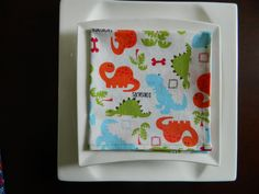 Children's Napkins, Set of 5, Mixed Prints for Boys. Dinosaurs, Trains, Winnie the Pooh, Monkeys, Cars. For School Lunches Or Every Day