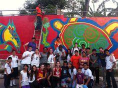 Finished Mural. El Salvador (WLC Trip)