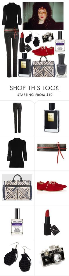 """The Ballad of Sexual Dependency"" by historychick ❤ liked on Polyvore featuring The Row, Kilian, Rick Owens, Zara, Coccinelle, rag & bone, Demeter Fragrance Library, NARS Cosmetics and bathroom"