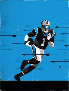 An ongoing series of illustrations focusing on my hometown Panthers Football Art, Sports Pictures, American Football, Illustration Art, Illustrations, Rugby, Nfl, Artsy, Batman