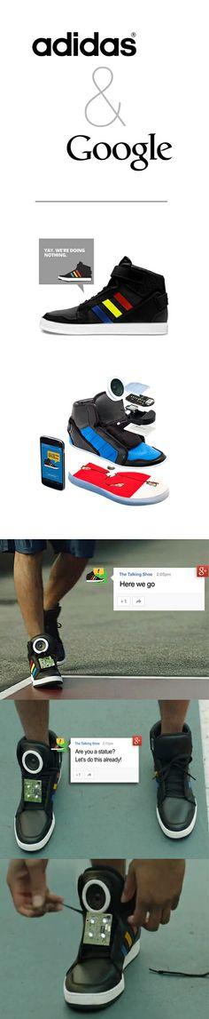 Google & Adidas co-branding design for 'the talking shoe' #google #adidas #ad #cobranding