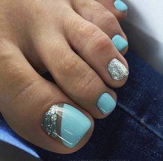 Gel Toe Nails, Feet Nails, Toe Nail Art, Gel Toes, Acrylic Nails, Coffin Nails, Pretty Toe Nails, Cute Toe Nails, Gorgeous Nails
