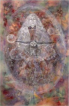 Owl Goddess by Susan Seddon Boulet Sacred Feminine, Divine Feminine, Spirit Art, Marion Woodman, Mystique, Animal Totems, Visionary Art, Illustrations, Native American Art