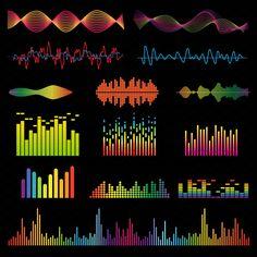 Music waves vector set by Vectorstockersland on @creativemarket