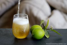 Sparkling Green Tea cocktail