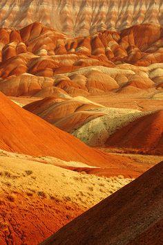 landscap, iran, desert, orang, color, natur, beauti, tabriz, place