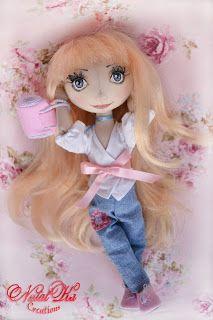 Текстильная кукла Анина. Art doll handmade by NatalKa Creations